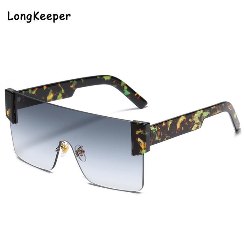 90-е годы Дизайнер негабаритные Ореховые заготовительные Очки Gafas de Gool Sol Sun Мода квадратные солнцезащитные очки рама 2020 Uliwx