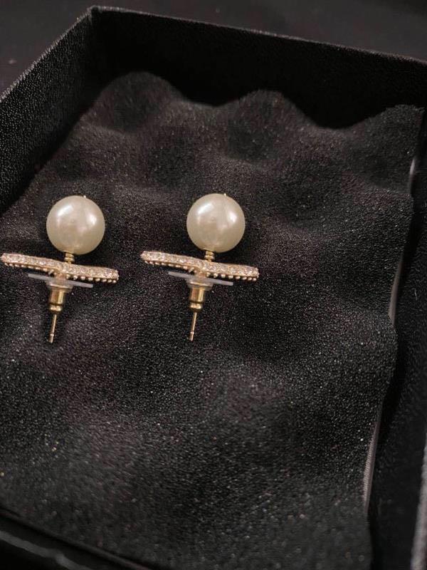 أزياء هوب لؤلؤة الذهب أقراط aretes orecchini للنساء حفل زفاف الاشتباك عشاق مجوهرات هدية مع صندوق لديه ختم