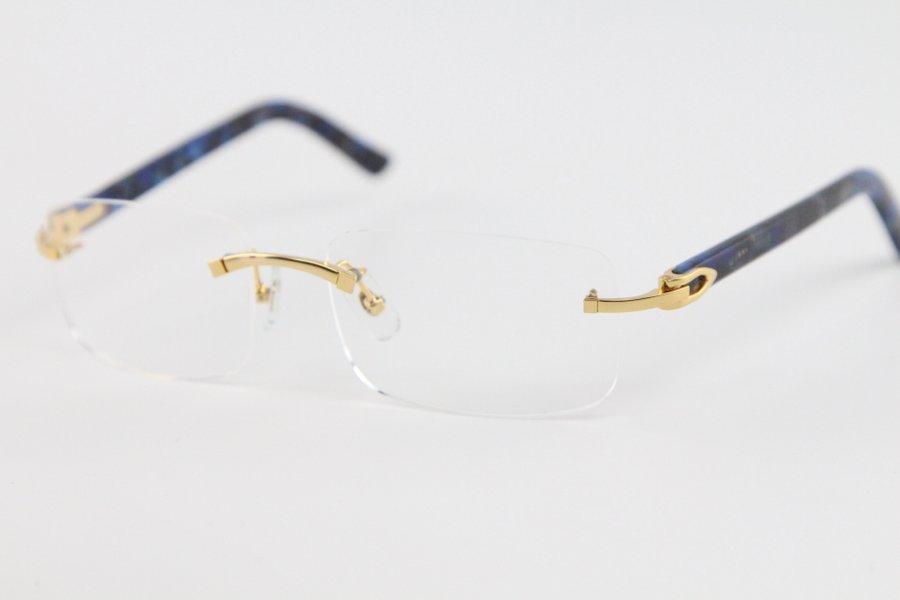제조업체 도매 8,200,757 골드 실버 무테 안경 안경 프레임 여성 남성 골드 프레임 안경 크기 : 56-18-140mm