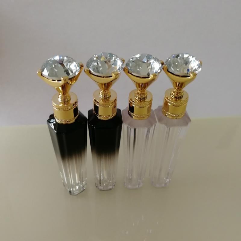 Commercio all'ingrosso Lip Gloss Packaging Bottiglia Contenitori Diamante Lip Gloss tubi chiari Lip Gloss Vuoto Lipgloss tubo bottiglie riutilizzabili Lipgloss