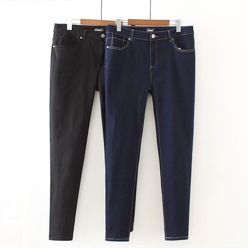 emagrecimento das mulheres 300 Jin plus plus tamanho sobredimensionada Jeans lápis calças calças lápis calças de brim 250 Jin 5 7109