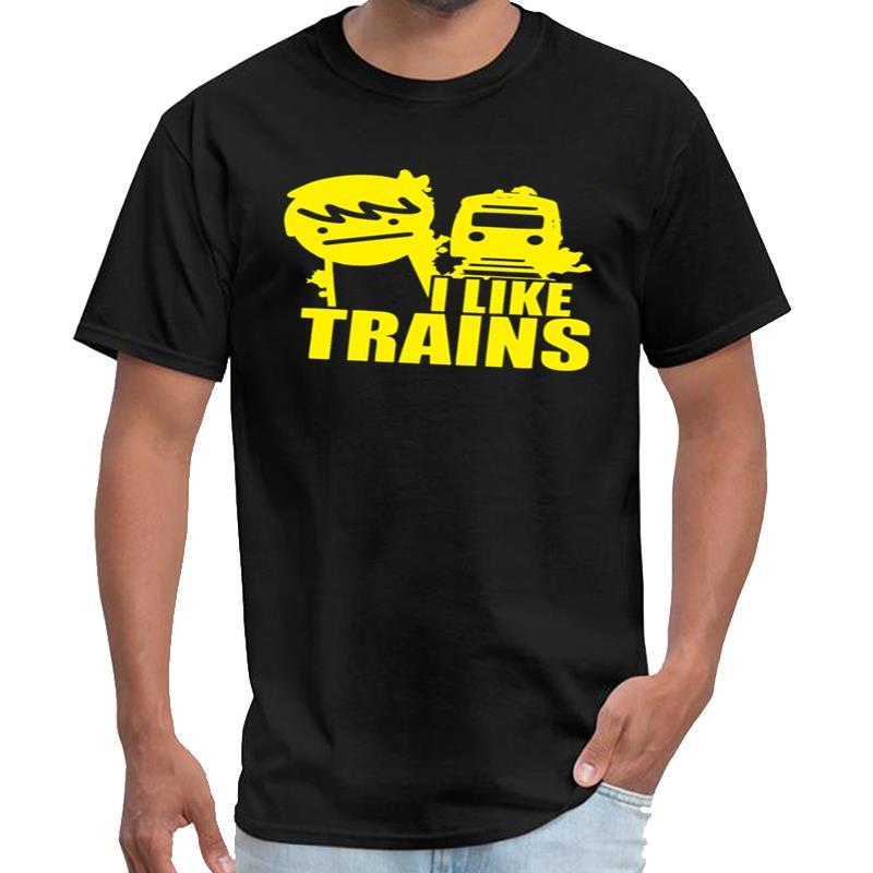 Personnaliser I Like Trains la série tv de bureau t-shirt synthwave T-shirt de costume de femmes-6XL