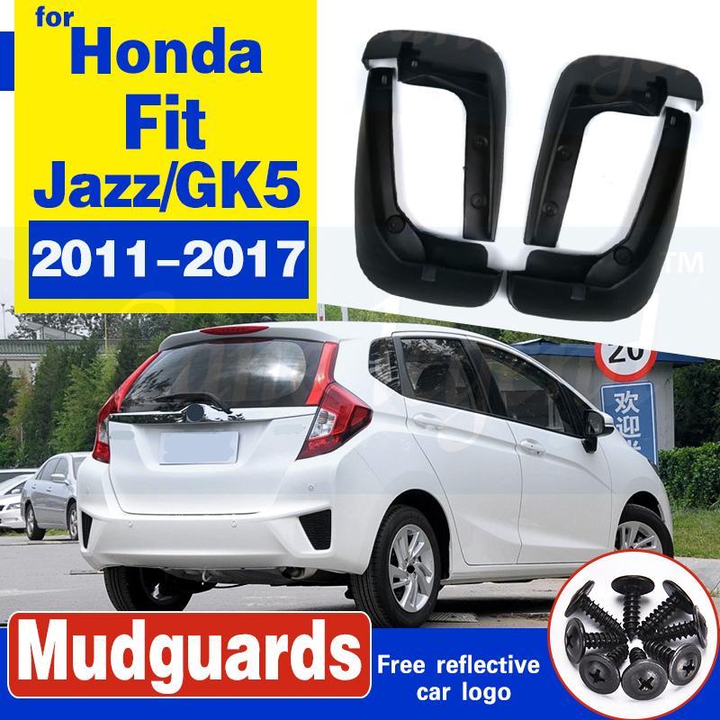 4pcs / set Garde boue Protection Extérieur Rabats Mud voiture peinture Fender pour Honda Fit Jazz / GK5 2011-2017 2015 2016 Car Styling
