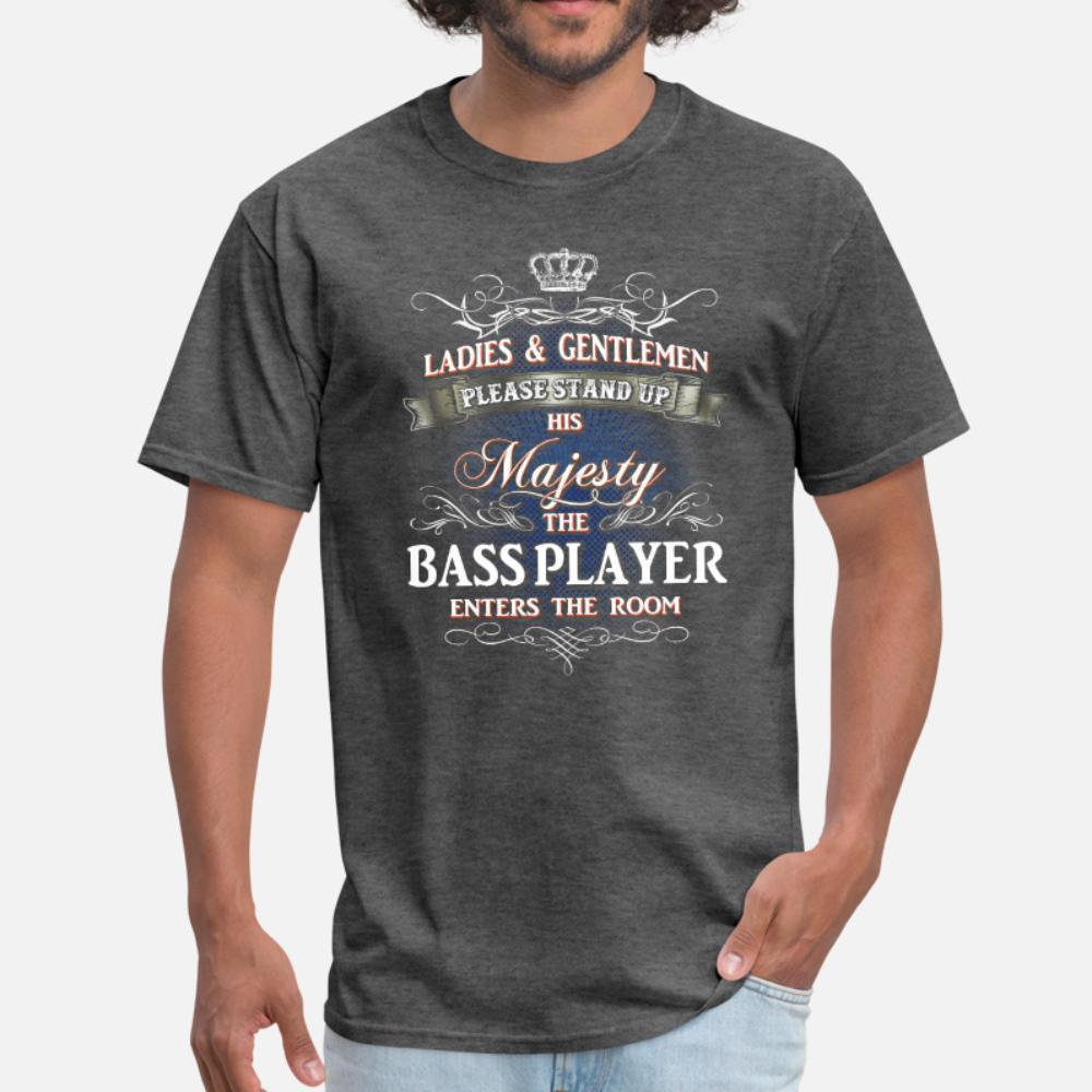 Per gli uomini di lavoro Bass Player uomini della maglietta Personalizza manica corta rotonde della camicia del collo della novità pazzo divertente Spring Family