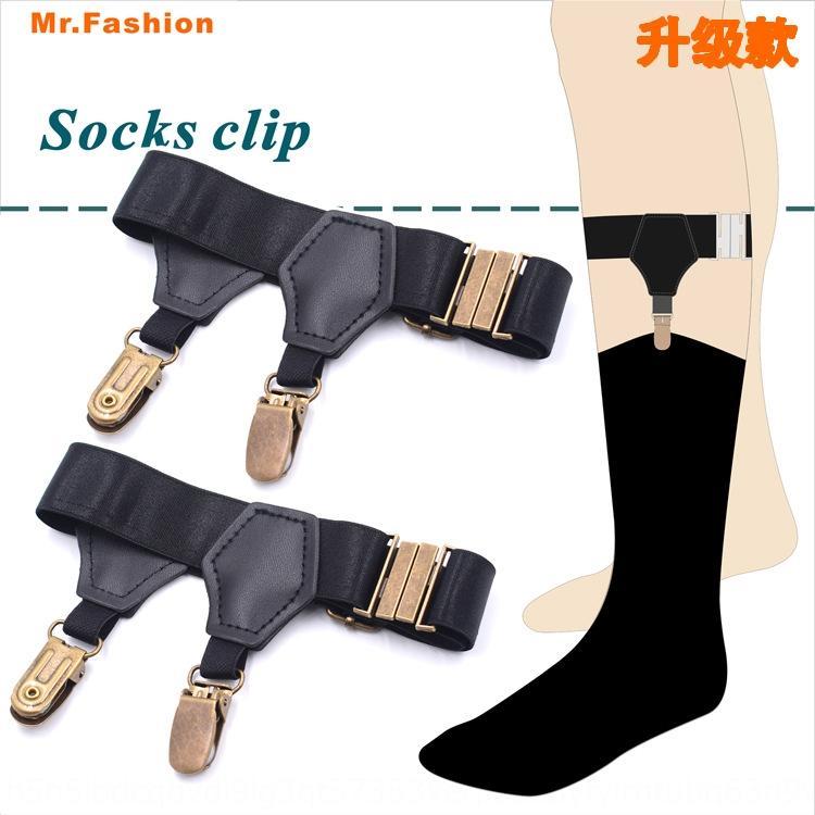 Black suspender suspender socks men's and women's socks clip elastic adjustable Garter SJWJ-S-bronze Black