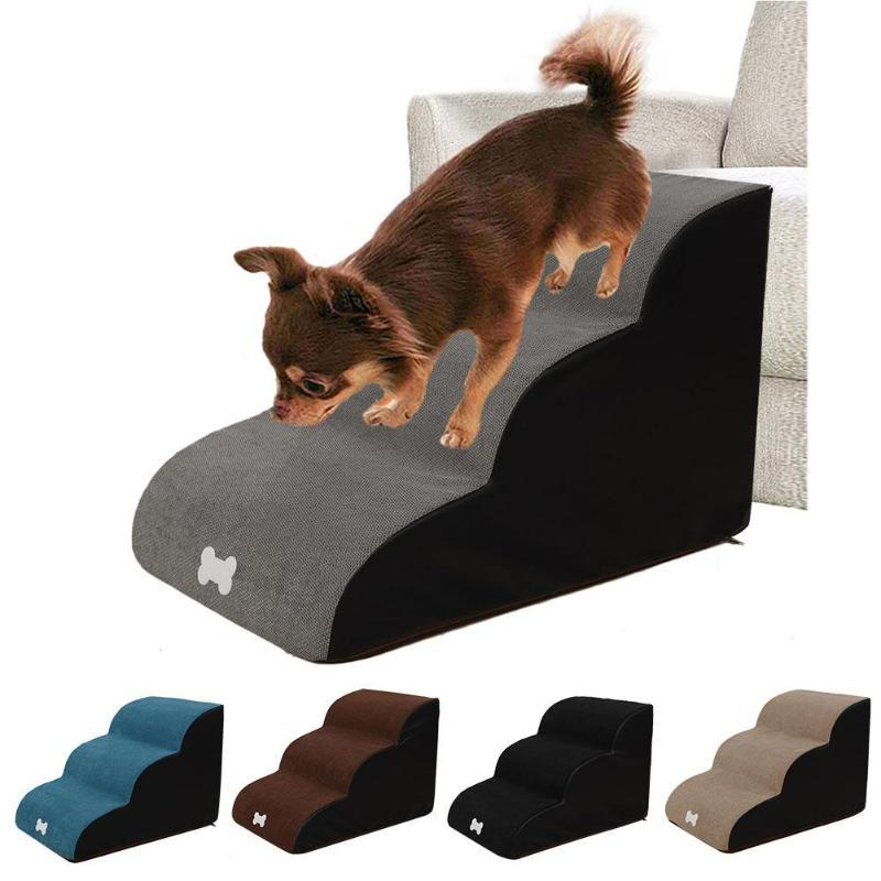Dog Stairs Ladder Pet Stairs Step Dog Ramp Sofa Bed Ladder For Dogs Cats Large Steps For Indoor And Outdoor Pets