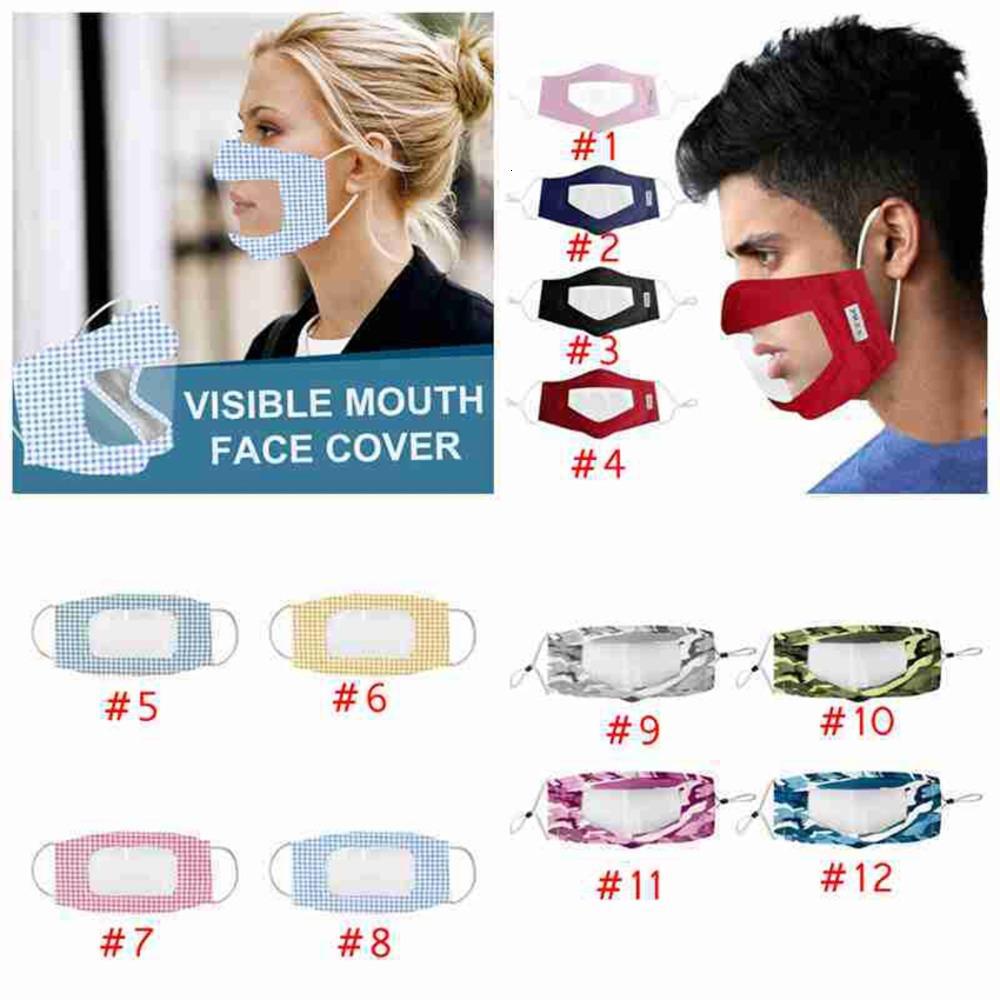 Kapak Face Görünür Anti Toz Ağız Yeniden Yıkanabilir Yüz Maskesi Yetişkin Spor Sağır-dilsiz Kamuflaj Yüz Maskeleri CYZ2643 Malzemeleri