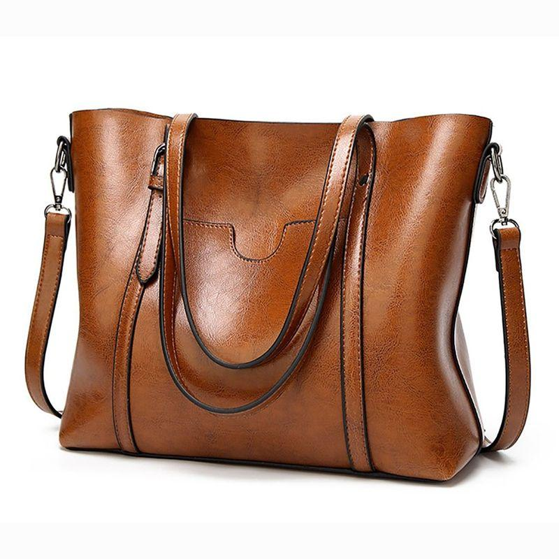 Femmes Sacs à main Fourre-tout Sacs à bandoulière pour femmes Grand PU cuir Top Handle Satchel Messenger sac à main Brown