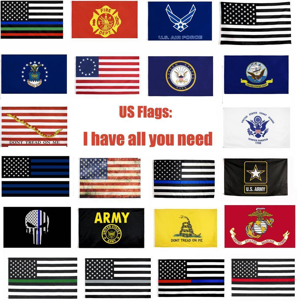 Drapeaux USA armée américaine Bannière Airforce Marine Corp Marine Besty Ross Drapeau Ne marchez pas sur moi drapeaux légers xxx Drapeau Ligne GWA903