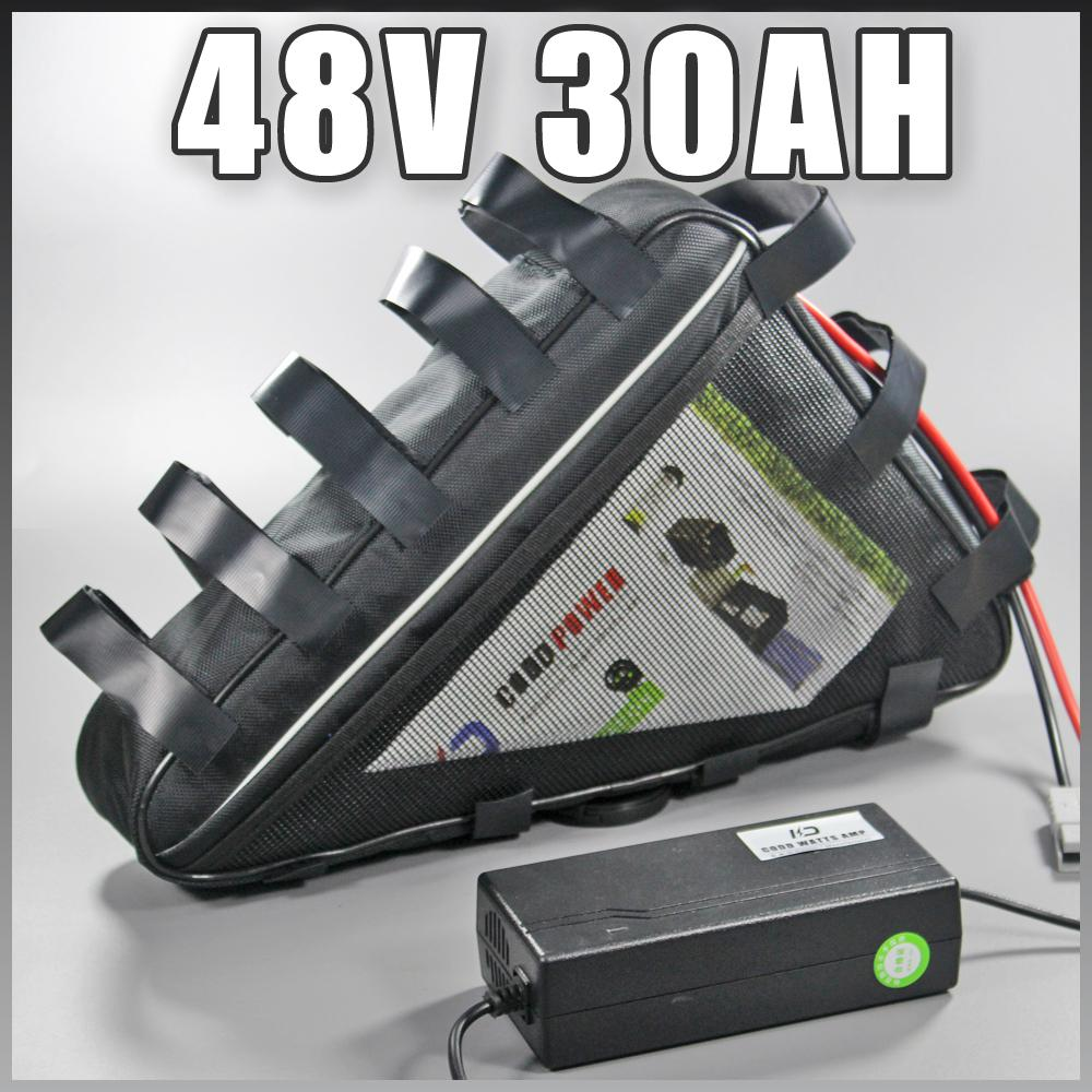 48v 30Ah batteria elettrica della bici Triangolo Samsung litio 1500W ebike motore doganali di diritto doganale Bafang