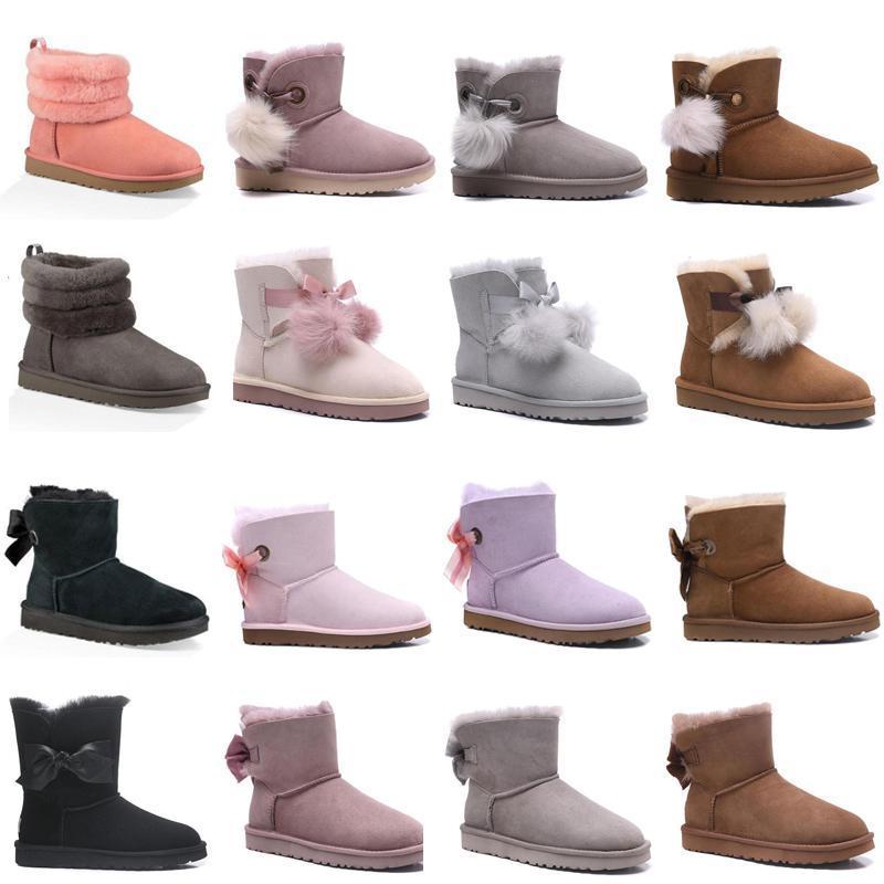 2020 New Australien Frauen Mode Schneeschuhe Winterstiefel Mini Damen Miniknöchel klassische Mädchen-Frauen triple Marine Stiefel braun Größe 36-40 iMnz #