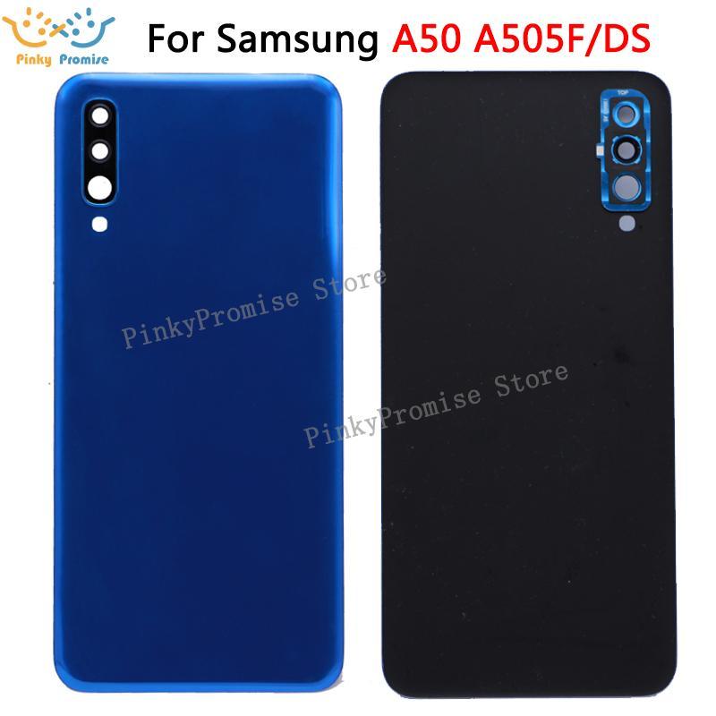 Para Samsung Galaxy A50 A505 A505F tampa traseira tampa da bateria Vidro Habitação para caixa traseira Samsung A50 substituição