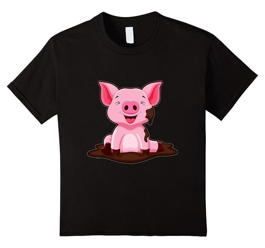 Linda del cerdo del amor cerdo camiseta de manga corta los hombres del verano del O-cuello del algodón camiseta fresca tes de las tapas de Calle