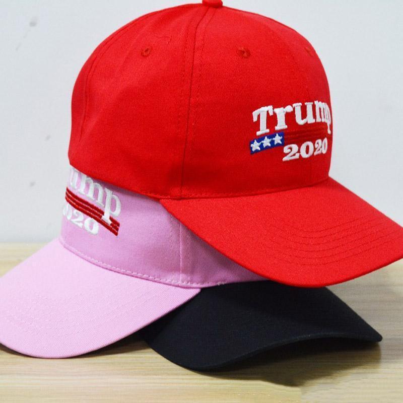 Nakış Trump 2020 Bütünleme Amerika Büyük Yine Donald Trump Beyzbol Şapka Beyzbol Caps Yetişkin Spor pembe siyah şapka ABD seçimleri kırmızı Caps
