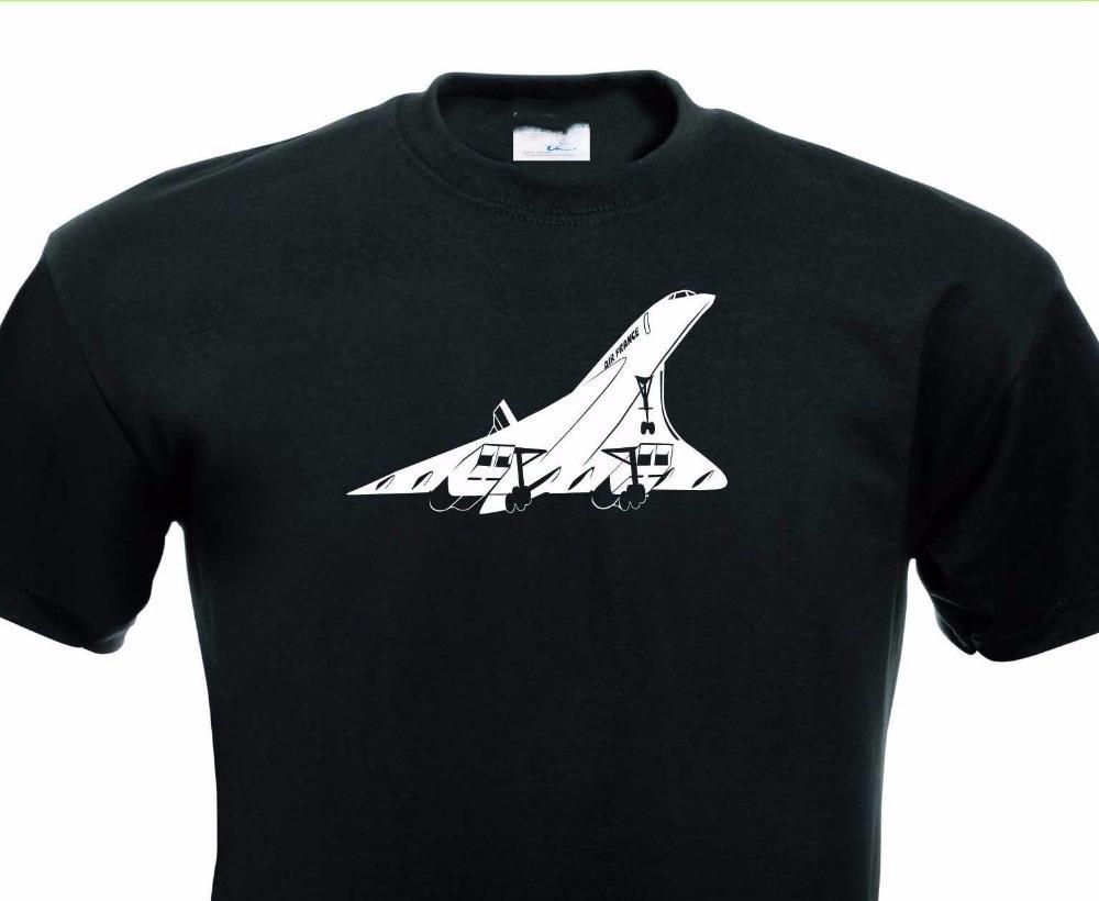 Прибытие Стрингер Мужчинам Дешевые футболки Concorde Flugzeug сверхзвукового авиалайнера Turbojet Tee Shirt