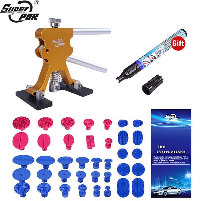 Kit Super PDR strumento Da Auto Dent Puller tazza di aspirazione della colla Tabs 38PCS Strumento di rimozione a mano Set Paintless Dent Kit Lifter Auto Set