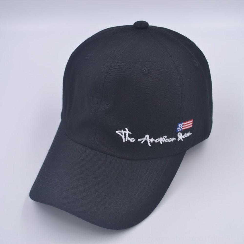 gQZjC Hat Rua chapéu na moda da bandeira americana dos homens e mulheres verão e algodão pára-sol de outono do curvo beirais capota base de boné de beisebol