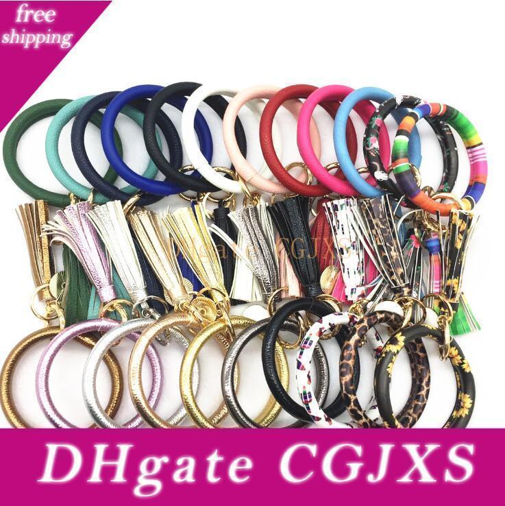 Catena Wrap Bracciali Ciondolo braccialetti Chiavi aperte nappa incanta i braccialetti in cuoio di 22 colori tra cui scegliere favore di partito Lxl965