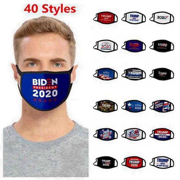 Maschere Trump cotone faccia nera in bicicletta Anti parapolvere Donne Uomini Unisex maschere stilista stampato nero lavabile viso 300pcs maschera