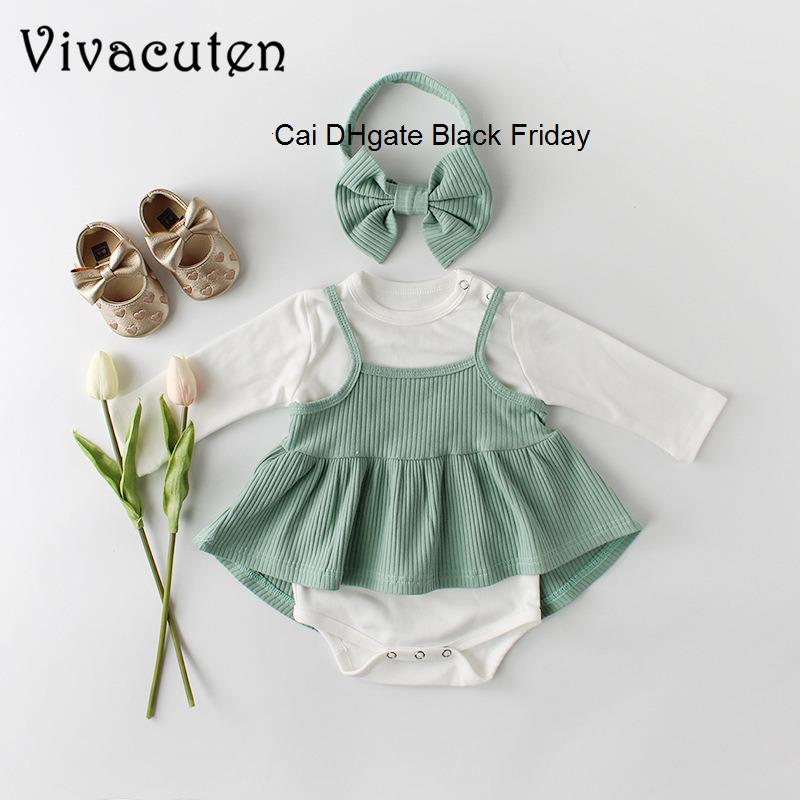 Floral Headband 3PCS Outfits Set Floral Skirt Newborn Baby Girl Clothes Solid Ruffled Romper