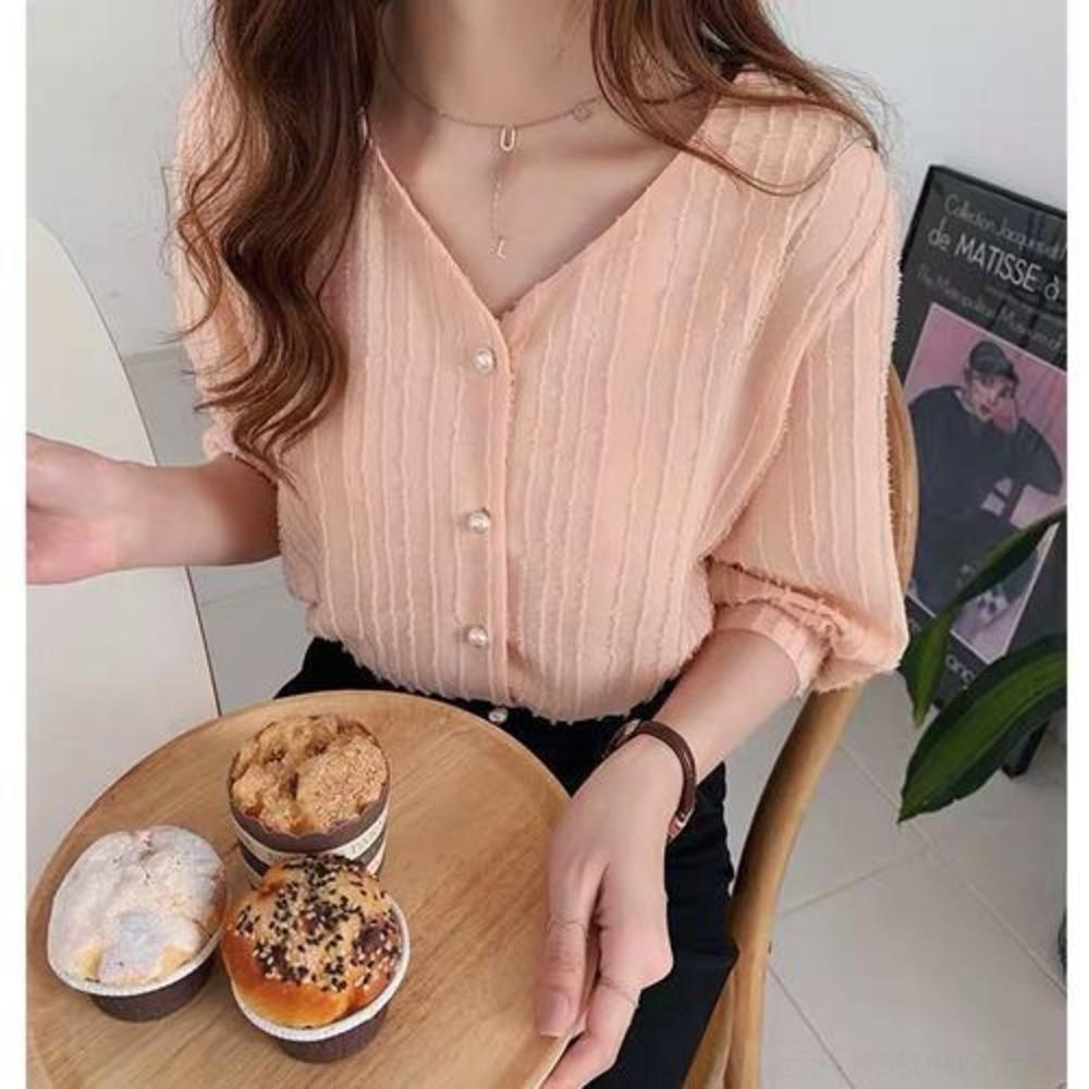 camisa de chiffon nova moda borla cU5Ci Verão curto Top fadas sólida mulheres estilo top ocidental de base a cor da camisa manga de