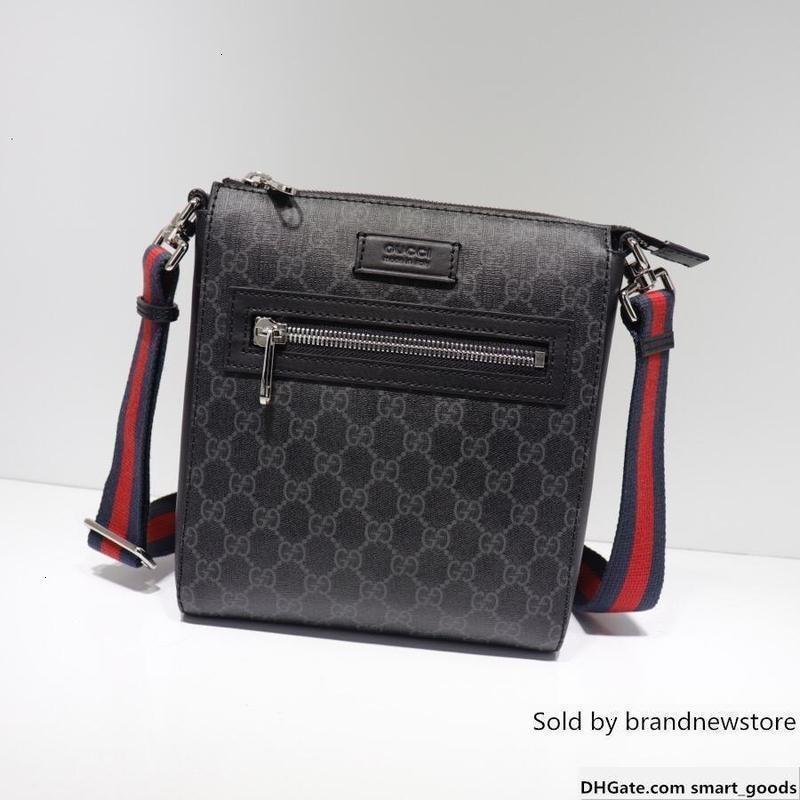 Borse Uomo borsa Lettera oro sacchetto del messaggio Hardware spalla 523.599 Miglior All Red Stripe nero del cuoio di trasporto