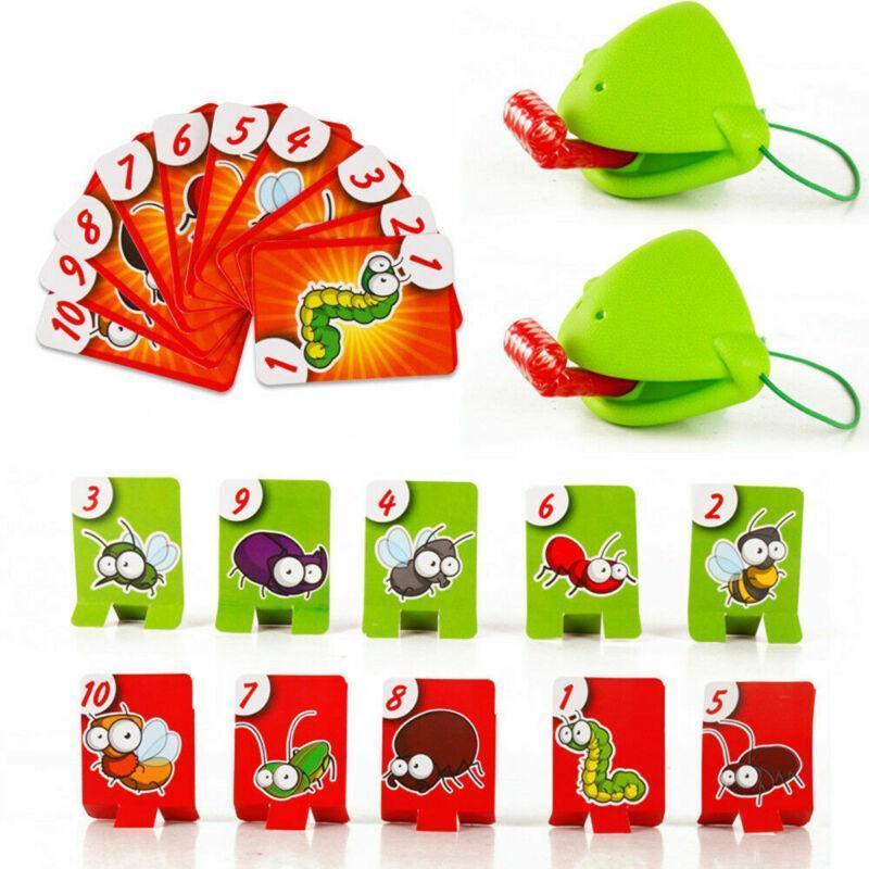 Cartes Grenouille Parti Y200428 Jouet Caméléon bouche Set Léchez Soyez Prenez pour carte Toy drôle de langue langue Tic-tac famille Board Game rapide gsJXRTcAv