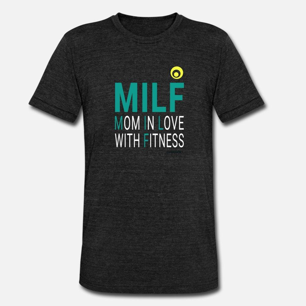 MILF: Maman amoureux des hommes shirt Top Fitness Débardeur Femmes t personnalisé 100% coton col rond de base solide Fit nouveau style d'été de style