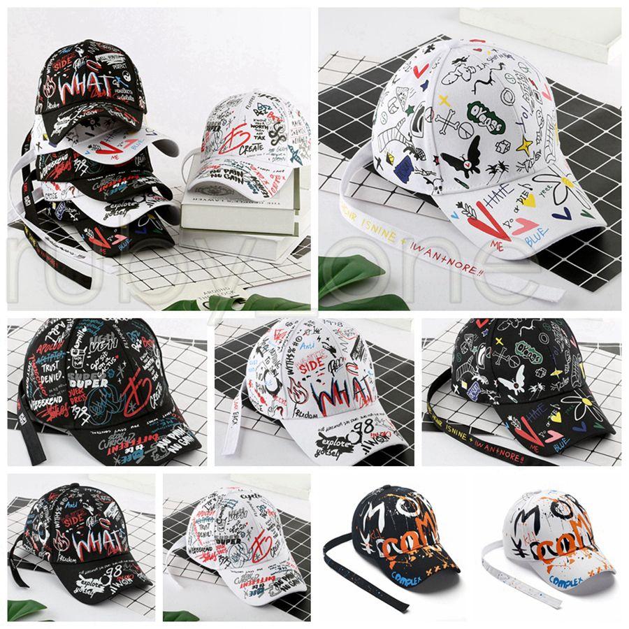 RRA3473 Hop Partido boné de beisebol impressão Graffiti Moda exterior graffiti hip-hop Caps Esporte Snapback Hip Chapéus Abastecimento 8styles