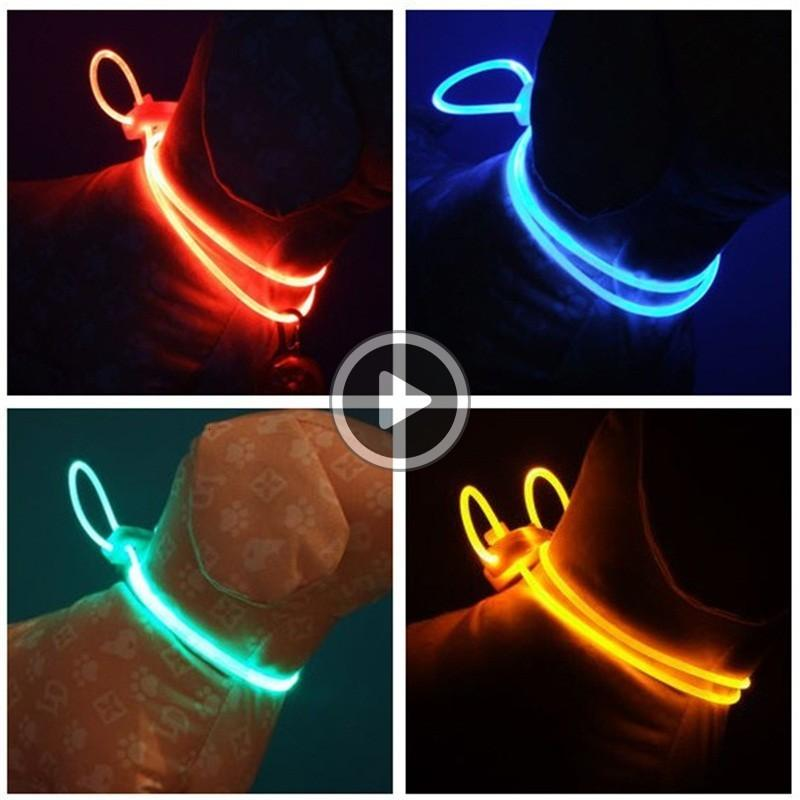 New Pattern Led Dog Collars Flash Of Light Hanging Rope Pet Accessories Night Travel Safety Multicolour Dogs Leash 2 3rz D2 Chris IUVV