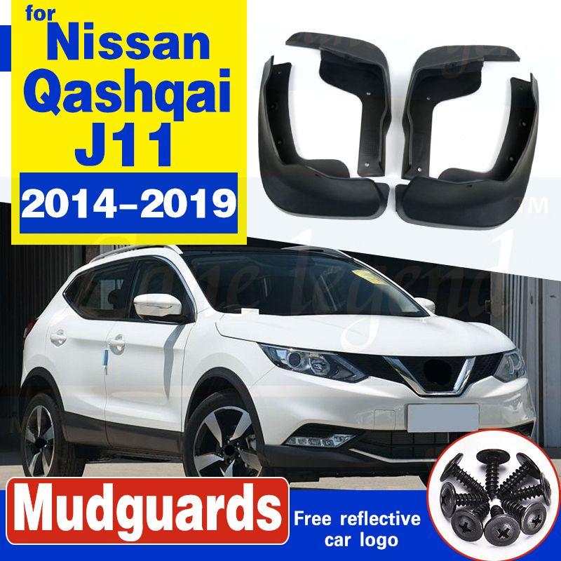 Vorne Hinten Set Molded Auto Schmutzfängern für Nissan Qashqai J11 2014-2019 2016 2017 Mudflaps Spritzschutz Schmutzfänger Kotflügel Fender