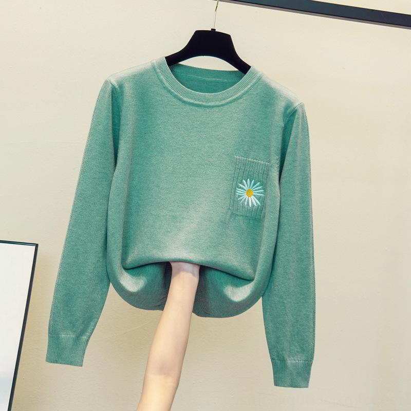gd4Xh Büyük boy kadın kazak 2020 Sonbahar Yeni Top'un kazak üst şişman kardeş gevşek popüler gömlek giyim temel renk EtgqB zayıflama