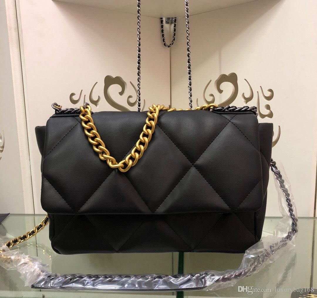 Las nuevas mujeres bolso de cadena de CrossBody bolsos de hombro pequeño bolsas de cuero genuino diamante del enrejado de piel de cordero bolsa de asas monedero 26cm