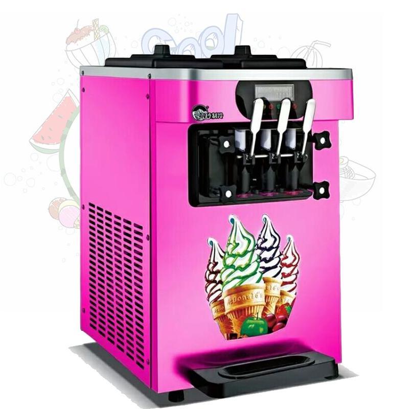 Commercial ice cream machine three flavors of soft ice cream machine High quality stainless steel yogurt ice cream machine