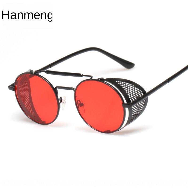 Neue Sonne Steampunk Art und Weise personifizierte runde New Sonne Steampunk Art und Weise personifizierte Sonnenbrille runde Sonnenbrille q0lRA