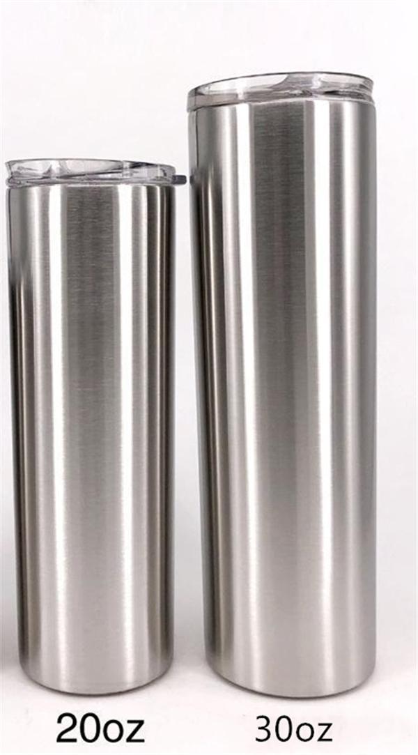 20 30 Unzen Gerade Tumbler Edelstahl dünne Tumblers Gerade Cup Vacuum Insulated Doppel-Wand-Spielraum Bier Kaffee Auto Tassen Kostenloser Versand