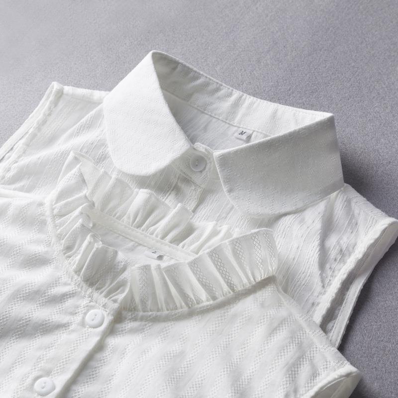 La primavera y el chaleco muñeca sábanas de algodón del todo-coincide con chaleco de algodón y lino muñeca grande el tamaño del cuello falso suéter de la camisa decorativa de las mujeres