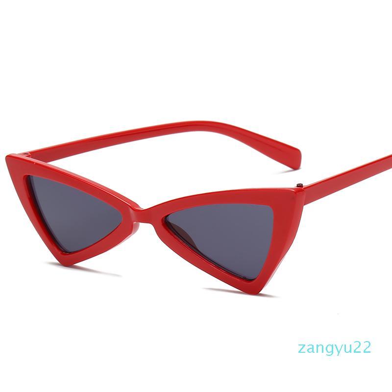 Atacado -Sunglasses Sexy Triângulo leopardo quadro Acessórios várias cores opcionais plástico Óculos mulheres Sunglass por sunglases