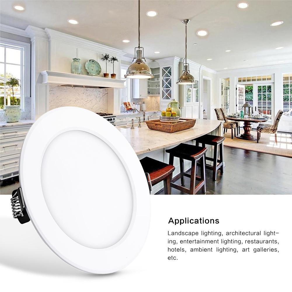 Painel de LED Light 18W superfície montada em torno RGBLED teto Luzes AC85-265V Quadrados LED Downlight