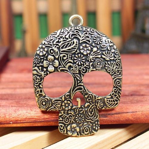 ed2RH bijoux du matériel spécial 66,5 * squelette exquis 49mm sculpté rose surdimensionné bijoux du matériel spécial bricolage 66,5 * 49mm Pendentif Diy