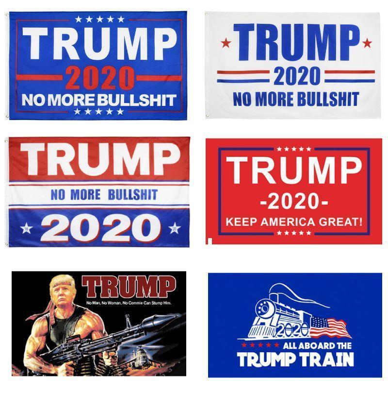 도널드 트럼프 플래그 2020 년 미국 대통령 선거 플래그는 미국의 위대한 폴리 에스터 인쇄 된 90 * 150cm 깃발 배너 바다 배송 DDA115 유지