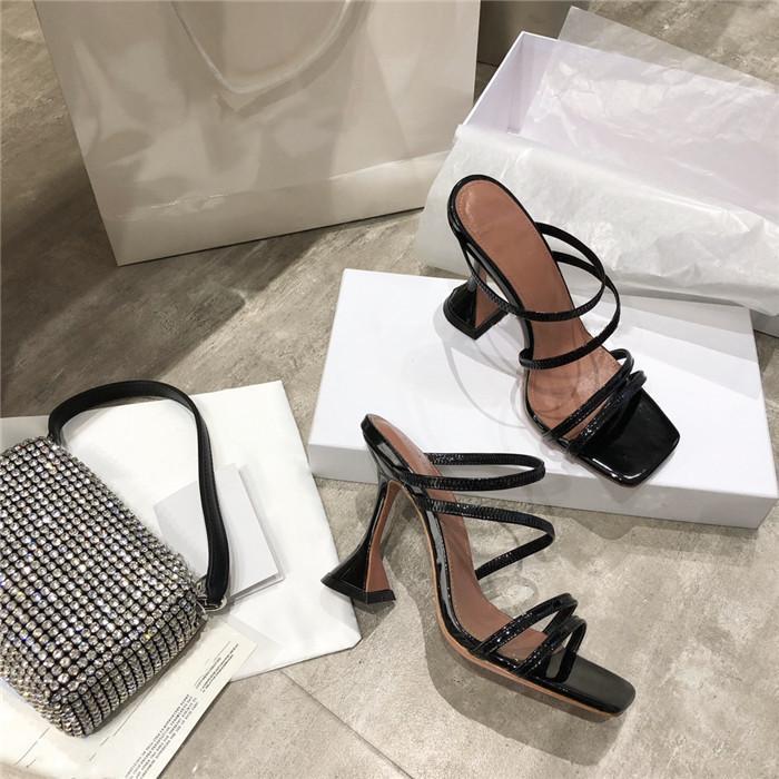 Летом классический веб-знаменитость ультра высокий каблук сандалии, универсальный и удобный кожаный верх с высоких каблуках сандалии с размером коробки 35-40