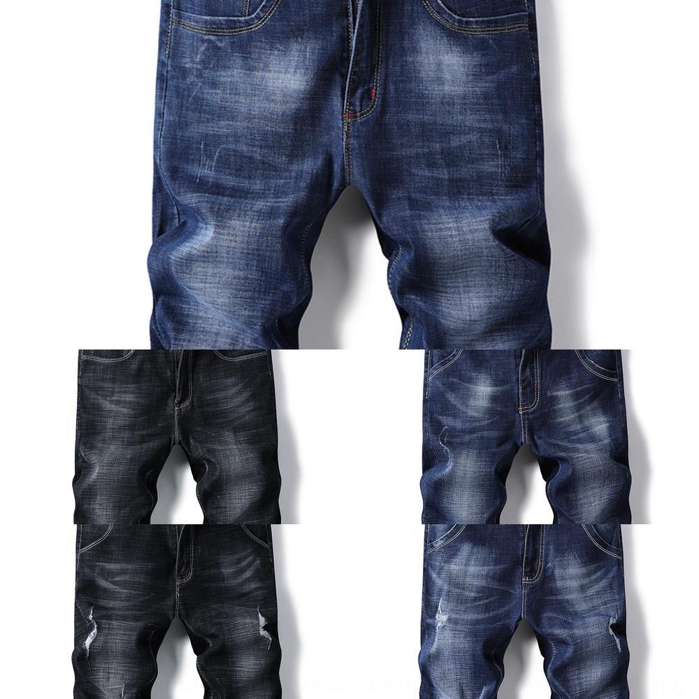 7 Neuf neuf pantalons-longueur de la cheville Shorts de minces hommes d'été stretch denim shorts hommes recadrée trou slim fit 5 recadrée pantalon pantalon mi-longueur
