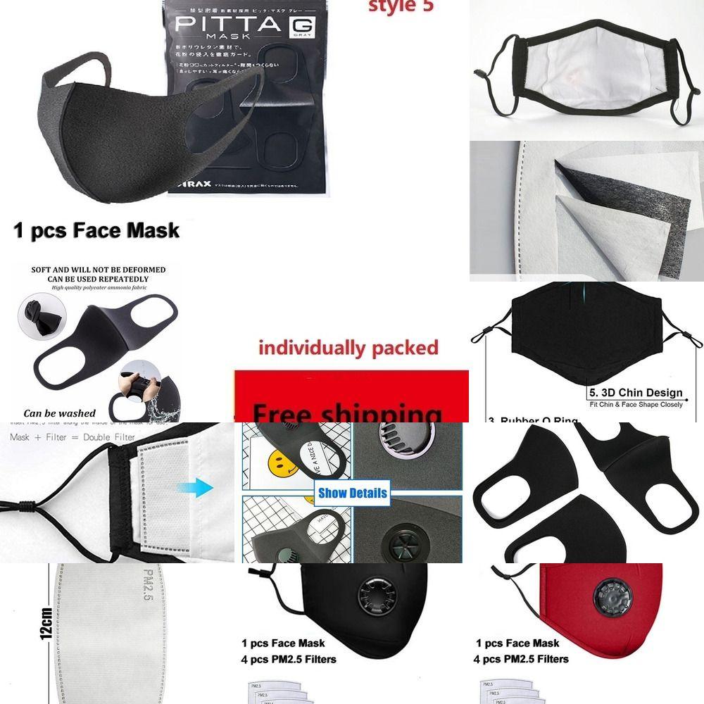 Filtro químico 5 camadas 5jtyk 2pcs / lot Máscaras Maskd carbono PM2.5 Haze usein Anti substituíveis Filtros para Adulto Crianças Ativar Ch 5449C