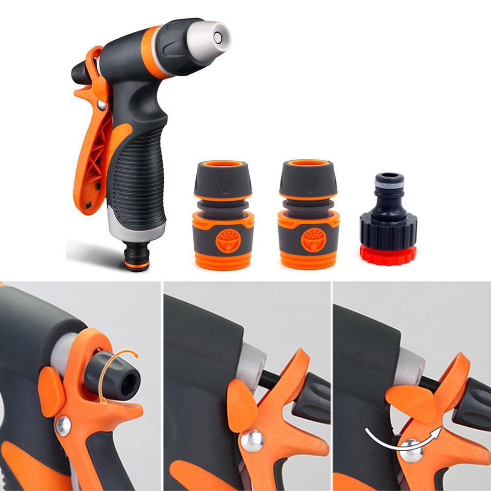 Flow Adjustable Garden Watering Car Washing Hose Nozzle Non Slip Sprayer Set