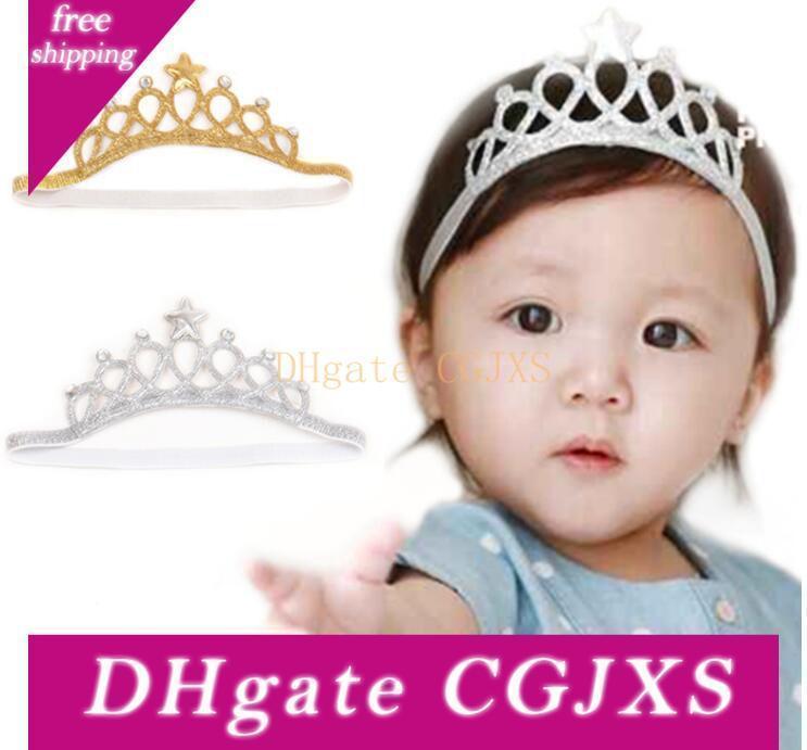 10pcs fiesta de cumpleaños de la niña de la corona diadema accesorios para el cabello infantil Ropa banda recién nacido Sombreros Tiara Diadema regalo Turbante