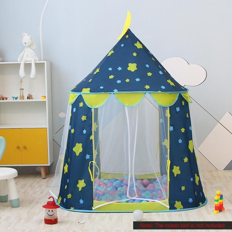 Kinder Rocket Ship-Spiel-Zelt Folding Spaceship Play House Spaceship Zelte Tragbare Ultralight Camping-Zelt für Kinder-Spiel-Geschenk
