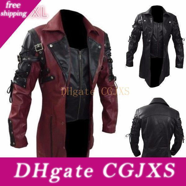 2019 New Style Europe And America Men Locomotive Large Size Leather Jacket Men &#039 ;S Coat