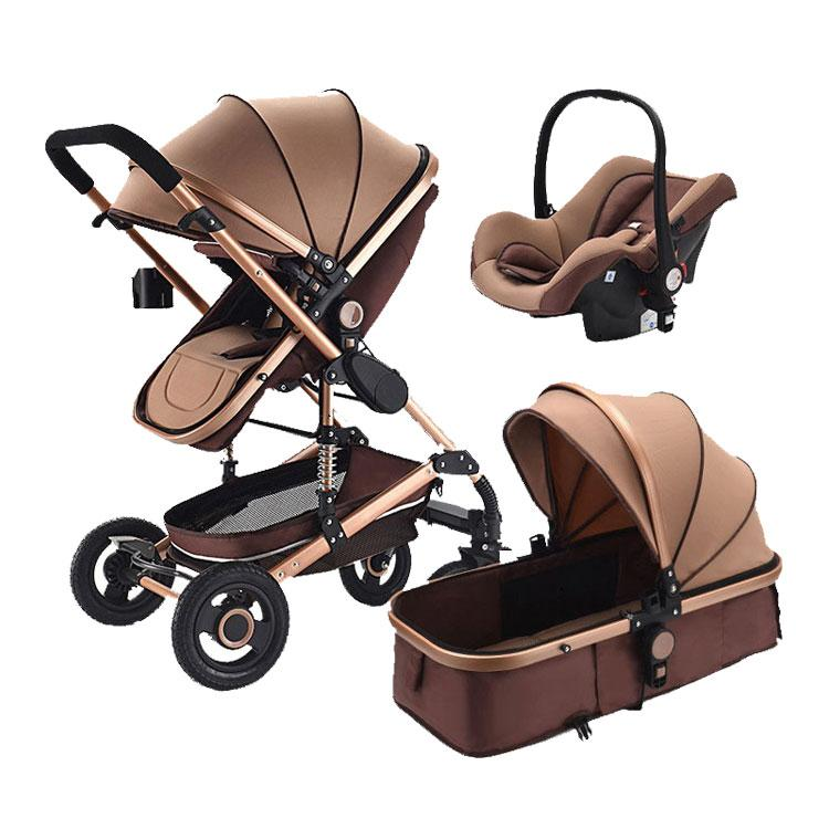 Baby Stroller 3 em 1 Pram com assento de carro Viagem Sistema bebé do carrinho com assento de carro recém-nascido Conforto 0 ~ 36 meses