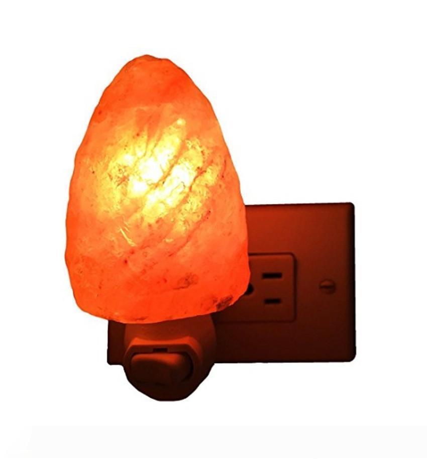 Гималайская кристалл соль настольной лампы лампы спальня украшения ночь пробка света в природной гималайской соли Night Light ионизатор воздух естественной лампе